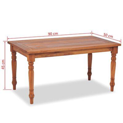 vidaXL Batavia Kavos staliukas, tikmedis, 90x50x45cm