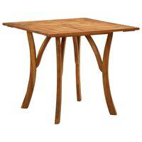 vidaXL Sodo stalas, 85x85x75cm, akacijos medienos masyvas