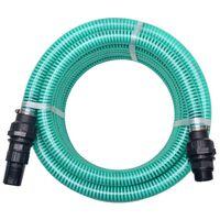 vidaXL Siurbimo žarna su jungtimis, žalia, 7 m, 22 mm