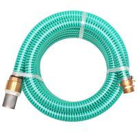 vidaXL Siurbimo žarna su žalvarinėmis jungtimis, 15 m 25 mm, žalia