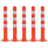 vidaXL Eismo reguliavimo stulpeliai, 5vnt., plastikas, 75cm