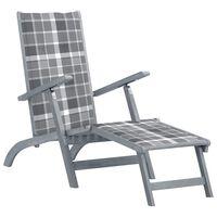 vidaXL Lauko terasos kėdė su pakoja ir pagalvėle, akacijos masyvas