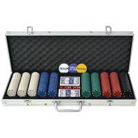 vidaXL Pokerio rinkinys su 1000 žetonų, aliuminis