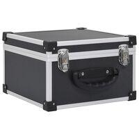 vidaXL Kompaktinių diskų dėklas 40 diskų, juod. sp., aliuminis, ABS