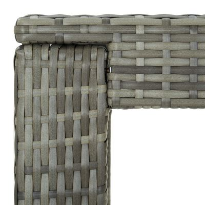 vidaXL Sodo komplektas su pagalvėlėmis, 7 dalių, pilkas, poliratanas