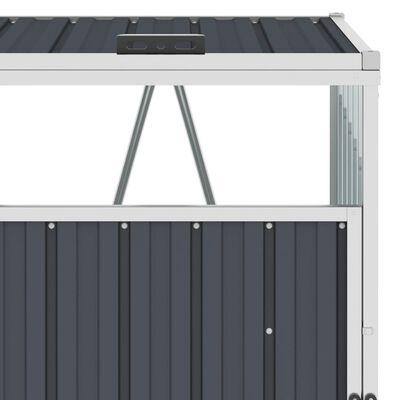 vidaXL Konteinerio stoginė, antracito spalvos, 213x81x121cm, plienas