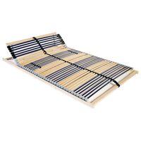 vidaXL Grotelės lovai su 42 lentjuostėmis, 7 zonos, 140x200cm