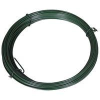 vidaXL Viela tvorai, lankstoma, 25m, 1,4/2mm, plienas, žalia