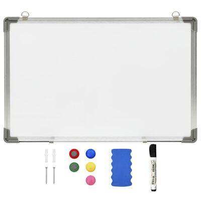 vidaXL Magnetinė sauso valymo lenta, baltos spalvos, 60x40cm, plienas,