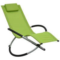 vidaXL Vaikiškas saulės gultas, žalios spalvos, plienas
