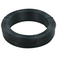 vidaXL Viela tvorai, juodai žalios spalvos, 250m, 1,4/2mm, plienas