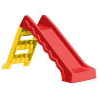 vidaXL Sulankstoma čiuožykla vaikams, raudona ir geltona, vidaus/lauko
