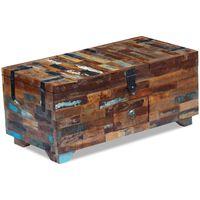 vidaXL Kavos staliukas, skrynia, perdirbtos medienos masyvas, 80x40x35 cm