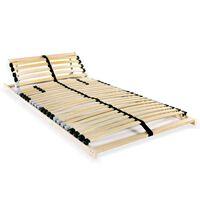 vidaXL Grotelės lovai su 28 lentjuostėmis, 7 zonos, 80x200cm