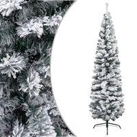 vidaXL Dirbtinė Kalėdų eglutė su sniegu, žalios spalvos, 240cm, PVC