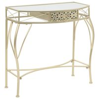vidaXL Šoninis staliukas, aukso sp., prancūziškas, 82x39x76cm