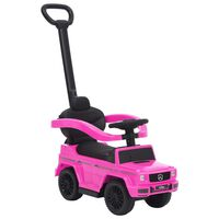 vidaXL Paspiriamas vaikiškas automobilis Mercedes-Benz G63, rožinis