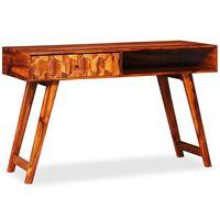 vidaXL Rašomasis stalas, rausvosios dalbergijos mediena, 118x50x76cm