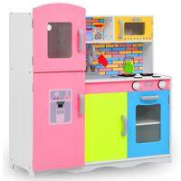 vidaXL Vaikiška virtuvėlė, įvairių spalvų, 80x30x85cm, MDF