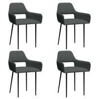 vidaXL Valgomojo kėdės, 4vnt., tamsiai pilkos, audinys (2x322967)