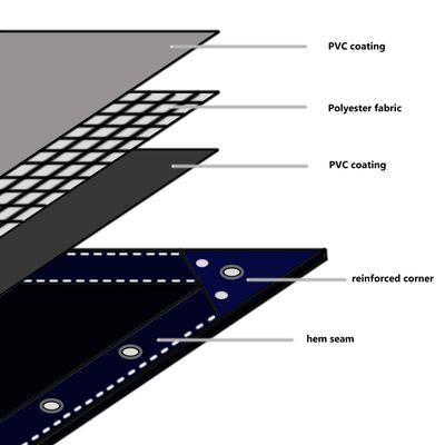 vidaXL Tentas, 650g/m², 4x4m, mėlynas