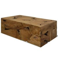 vidaXL Kavos staliukas, 90x50x30cm, rudas, tikmedis