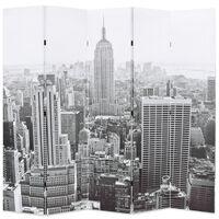 vidaXL Kambario pertvara, 200x170 cm, Niujorkas dieną, juoda ir balta
