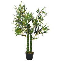 vidaXL Dirbtinis augalas-bambukas su vazonu, žalios spalvos, 110cm