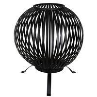 Esschert Design Laužavietė, juoda, anglinis plienas, apvali, FF400