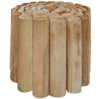 vidaXL Kuoliukų tvoros ritinys,  250x30cm, impregnuota pušies mediena
