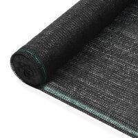 vidaXL Uždanga teniso kortams, juoda, 1,2x100m, HDPE