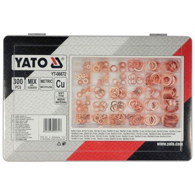YATO Poveržlių rinkinys, 300 dalių, varis, YT-06872