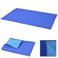 vidaXL Paklotas iškyloms, mėlynas ir šviesiai mėlynas, 150x200 cm