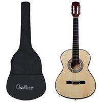 """vidaXL Klasikinė gitara su dėklu pradedantiesiems, 4/4 39"""""""