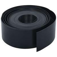 vidaXL Sodo apvadas, juodos spalvos, 10m, 10cm, PE