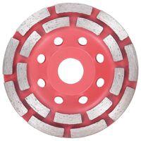 vidaXL Deimantinis šlifavimo diskas, 115mm, lėkštės tipo, dviejų eilių