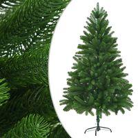 vidaXL Dirbtinė Kalėdų eglutė, tikrų spyglių imitacija, 210cm, žalia