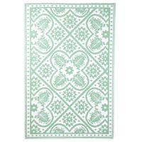 Esschert Design Lauko kilimas, žalios ir baltos spalvos, 182x122cm