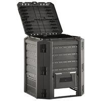 vidaXL Sodo komposto dėžė, juodos spalvos, 380l