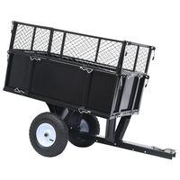 vidaXL Paverčiama priekaba vejos traktoriui, 150kg apkrova