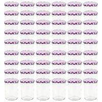 vidaXL Stikl. stikl. uog. su balt. ir viol. sp. dangt., 48vnt., 400ml