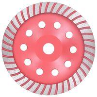 vidaXL Turbo deimantinis šlifavimo diskas, 180mm, lėkštės tipo