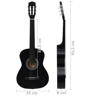 """vidaXL Klasikinės gitaros rinkinys pradedantiesiems, 8 dalių, 3/4 36"""""""