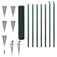 vidaXL Euro tvora, žalia, 10x1,7m, plienas