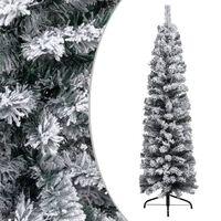 vidaXL Dirbtinė Kalėdų eglutė su sniegu, žalios spalvos, 150cm, PVC