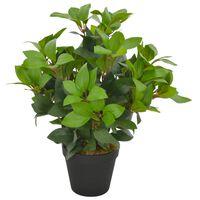 vidaXL Dirbtinis augalas-lauramedis su vazonu, žalios spalvos, 40cm