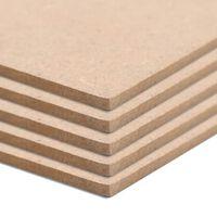 vidaXL MDF plokščių lakštai, 10vnt., stačiakampiai, 120x60cm, 2,5mm