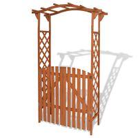 vidaXL Sodo arka su varteliais, tvirta mediena, 120x60x205 cm