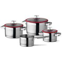 CUISINOX Maisto ruošimo indų rinkinys, 4 dalių, sidabrinis ir raudonas