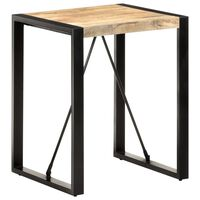 vidaXL Valgomojo stalas, 60x60x75cm, neapdorota mango mediena